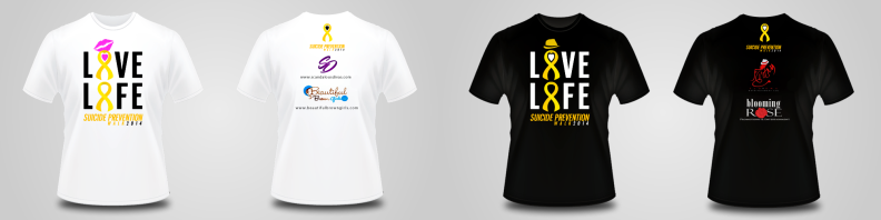 Suicide Prevention Walk - Logo Concept of T-Shirt - Color Logos.fw